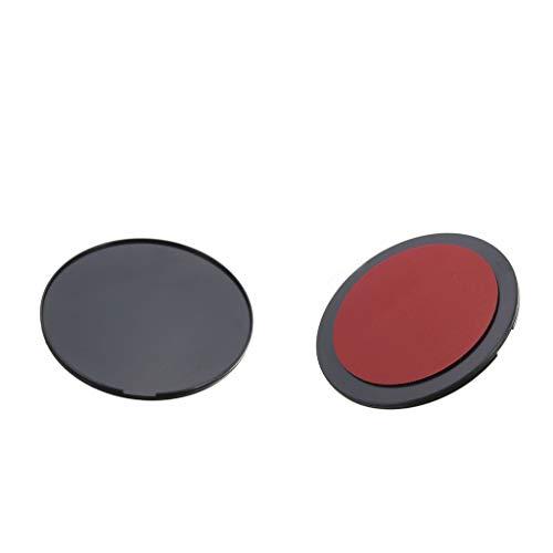 perfk 2 Piezas Circular Disco de Consola con Adhesivo Ventosa Base Paneles de Automóviles Garmin GPS Dashboard