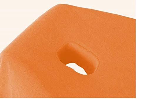 Exklusiv-Cad Heimtextil de massage Drap Housse en éponge avec nez Fente Marque, Tissu éponge, terracotta, 70-80x190-200 cm