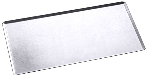 Backblech aus Edelstahl - aus einem Stück gezogen, Ränder 45° auslaufend, Materialstärke: 1,1 mm / Abm.: 60 x 40 x 0,7 cm