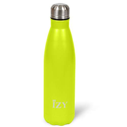 IZY Bottles thermosfles 500ML - Sandstone Lime Groen - Drinkfles