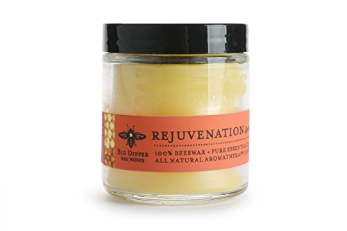 Big Dipper Wax Works 3.2 oz. Aromatherapy Apothecary Glass Beeswax Candle (Rejuvenation)