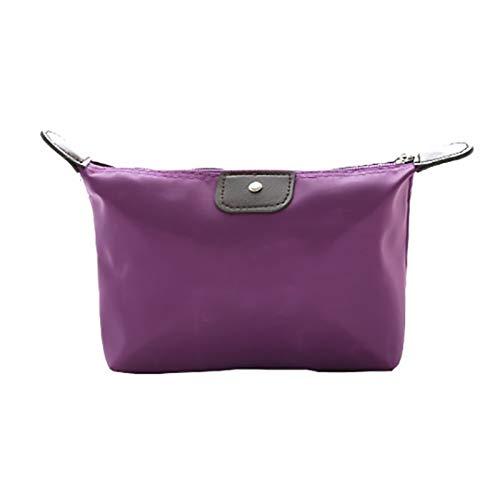「大特価」女性化粧品 レディース ポーチ 人気 化粧品袋大容量防水 化粧品袋収納バッグ(パープル )