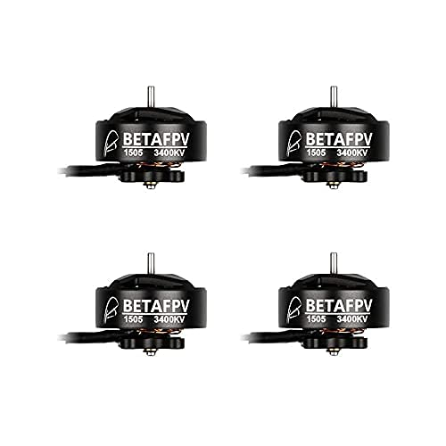 BETAFPV 4pcs 1505 3400KV Brushless Motor 3-4S FPV RC Motors for F722 AIO 35A Toothpick Flight Controller 3inch Whoop Drone Quadcopter Like Pavo30 4S Brushless Drone