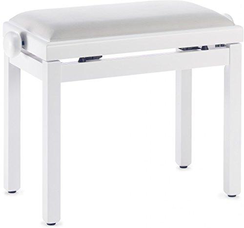 Stagg PB39 WHM VWH Klavierbank mit Sitz weiß matt