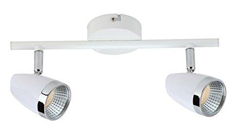 Brilliant plafondlamp, metaal, 3 W, wit/chroom, 0 x 27 x 14 cm