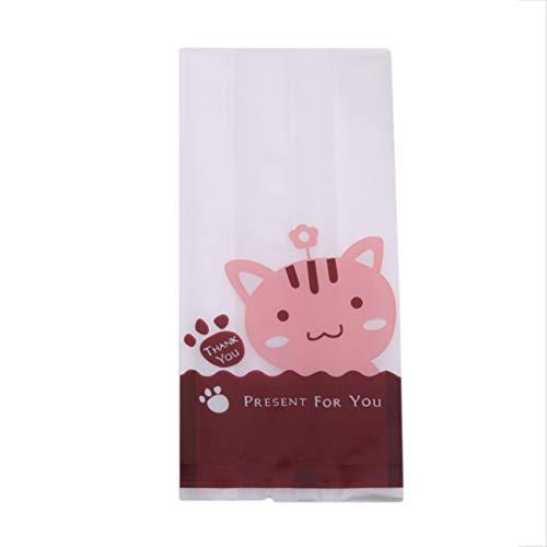 ZNMUCgs - Bolsa de sellado autoadhesivo para dulces y galletas, accesorios para uso doméstico, gato