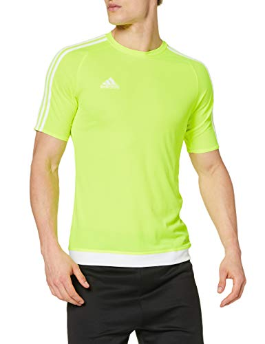 adidas Estro 15, T-Shirt Uomo, Multicolore (Amarillo Brillante/Blanco), S