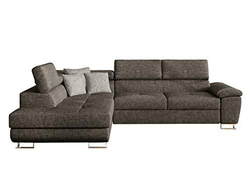Mirjan24 Ecksofa Eckcouch Cotere, Sofa Couch mit Schlaffunktion und Bettkasten L-Sofa Farbauswahl Wohnlandschaft vom Hersteller (Argo 214 + Argo 214 + Agro 211, Seite: Links)