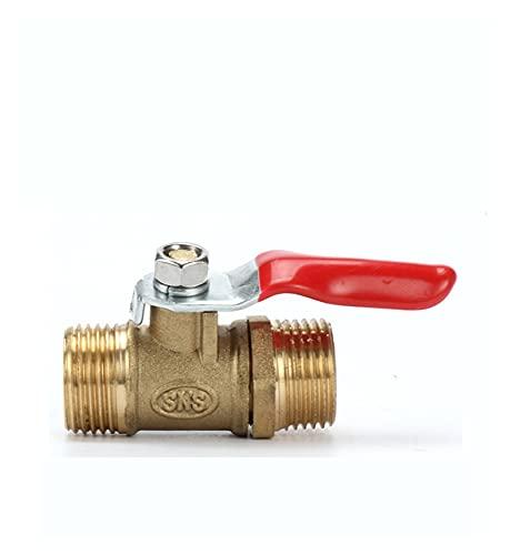 YEZIB Válvula Válvula de Bola 1/8'1/4' 3/8'1/2' Husmero de Macho a Macho BSP con Palanca roja Adaptador de acoplador de sujeción de la tubería del Conector para Aire, Gas y Agua, etc.