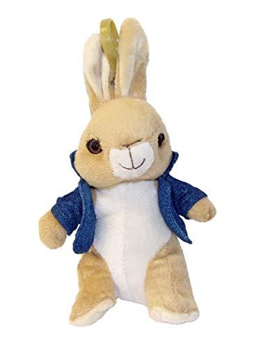 Peter Hase verschillende pluche figuren als hangers voor kinderen, jongens en meisjes (Peter met een blauwe jas)