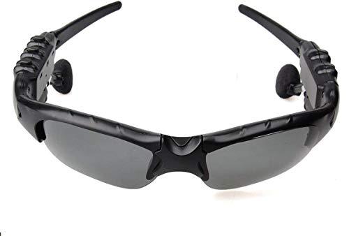 BigPlayer Wireless Music Bluetooth Sunglasses Headset Headphone with Stereo Handsfree for iPhone 5S 6 Plus, Samsung Galaxy, Black