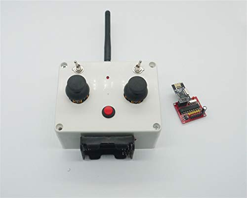 XUSUYUNCHUANG 1Set RC Tank 6ch Remote Controller Receiver Board Transmitter Kit 100M Distance DIY Spare Parts for Boat Car Tracked Vehicle Boat Accessories