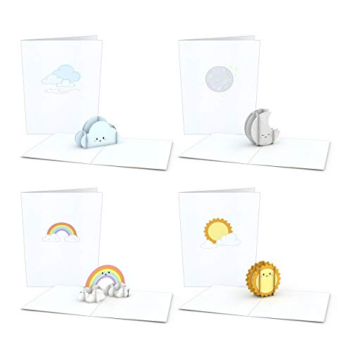 Lovepop Notecard 4-Pack Pop Up Cards, Sky High Birthday Cards, Thank You Cards With Envelopes, Thank You Notes Greeting Cards, 3D Card, Greeting Card, Pop Up Notecard