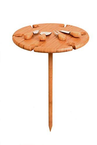 Bamboo Outdoor Wine Table