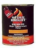 SANDHILL Stove Bright Satin Black Brush - On 1200 Degree Paint - Pint