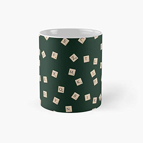 Taza clásica Scrabble   Mejor regalo divertido tazas de café 12 oz