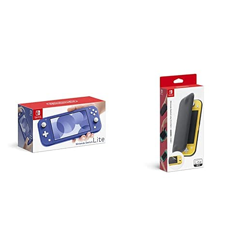 Nintendo Switch Lite ブルー+【任天堂純正品】Nintendo Switch Liteフリップカバー(画面保護シート付き)