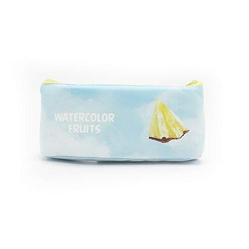 Vobajf Trousse Trousse à Crayons Creative Candy Trousse à Fruits Fruit Motif Papeterie Boîte Boîte de Rangement Poches Trousse (Couleur : Sky Blue)