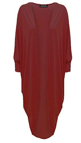 Womens lange mouw Batwing vest dames open vriend lange Maxi Kimono jurk