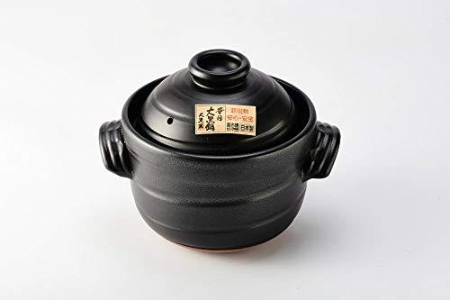 大黒 ごはん土鍋 3合炊き(二重蓋)