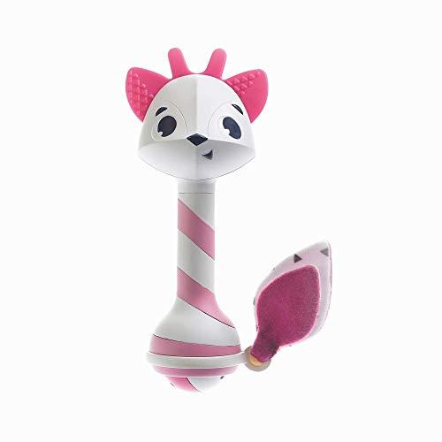 Tiny Love - Sonajero mordedor bebé, multiactivitade, adecuado para la dentición, Fácil de agarrar, sin BPA, color Rosa