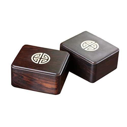 FJH 2PC-Platz aus Holz Tee Box Maccha Aufbewahrungsbehälter Kanister Tea Jar Caddy Aufbewahrungsbehälter-Kasten Handmade Organizer