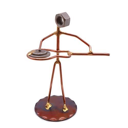 Guitar, Dobro Collectible Handmade Metal Art Figurine, Desk Accessories, Trophy, Boss Gift, Home Office Décor, Collectible Figures -  Rock Creek Metal Craft