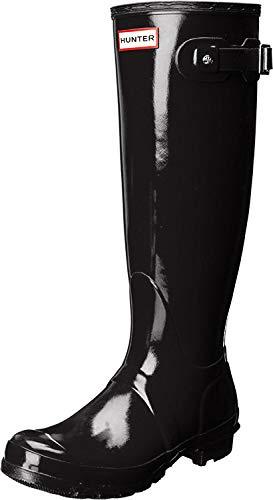 Hunter Original Tall Gloss, Botas de Agua para Mujer, Negro (Black), 40/41 EU