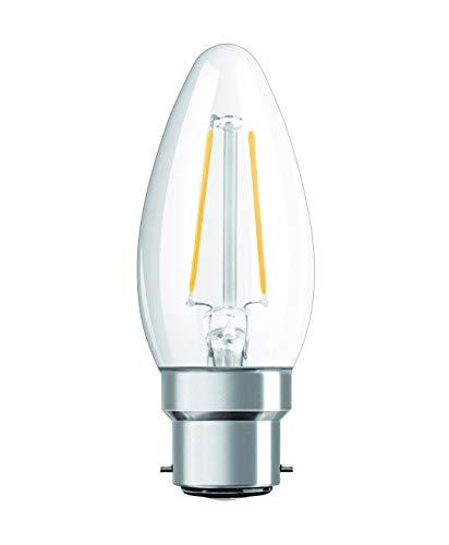 Osram Ampoule LED à Filament   Culot B22   Forme Flamme   Blanc Chaud 2700K   2,1W (équivalent 25W)