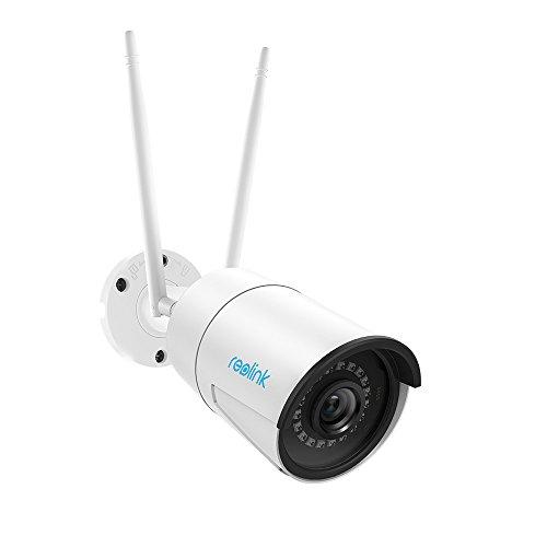 Reolink 4MP Super HD draadloze beveiligingscamera buiten, 2.4/5ghz dual band WiFi CCTV IP camera, IP66 waterdichte nachtzicht bewakingscamera met bewegingsdetectie audio micro SD-kaartsleuf, RLC-410W