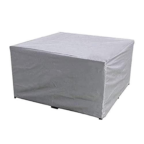 CHFQ Terrassenmöbelbezug 120x110x30cm, wasserdichte Tischbezüge für den Außenbereich, rechteckige regensichere Möbelbezüge, für quadratische staubdichte Außenmöbel 210D Oxford Fabric Garden Furnitur