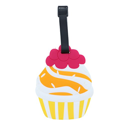 Fun Food Luggage Tags for Travel Suitcase ID Holder - Cupcake