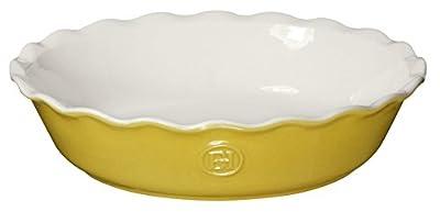 "Emile Henry HR Modern Classics Pie Dish, 9"", White"