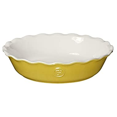 Emile Henry Made In France HR Modern Classics Pie Dish, 9 , Yellow