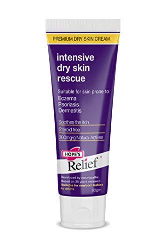 Hope's Relief Intensive Dry Skin Rescue Crème Formule Naturelle/Peaux Sujettes à l'Eczéma/au Psoriasis/à la Dermatite pour Bébé/Enfants/Adulte
