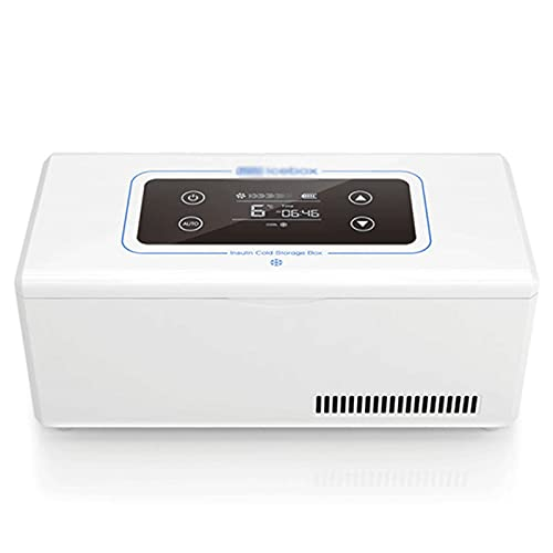 Mini Refrigerador - Refrigerador De Insulina PortáTil Aislado Temperatura Constante Del Insulina Caso Del Recorrido - PortáTil Nevera De Insulina Para AutomóVil, Viaje, Hogar-Dual battery