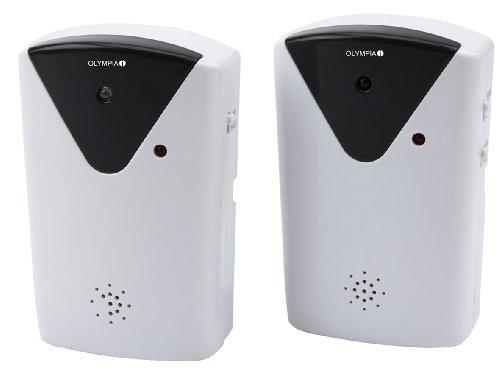 Olympia IR 200 Infrarot-Lichtschranke (mit Alarm, Ladenglocke - 100 dB Alarmanlage - Durchgangsmelder, Zutrittsmelder mit Ladenklingel)