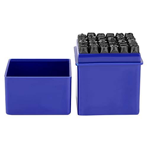 36 Stk Metallstempel, 6mm Schlagbuchstaben aus Kohlenstoffstahl, 26 x Großbuchstabe und 9 x Nummer, Schlagzahlen mit einem Koffer