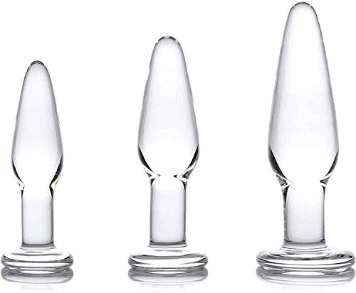3pcs/Set Transparent Glass Easy Washing Ànâles Training Bûtt Pl'ugs Ðịldǒ Luxury Gem Jeweled Design Ẹxpạndạblẹ Ạnạl Beads Massage Toys Luxury Gem Jeweled Design fọr Wọmen Men Best Gift