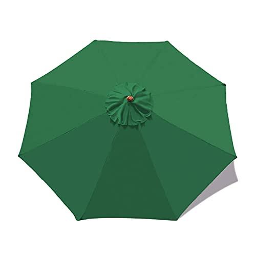 Metikkeer Parasol de repuesto para sombrilla de 2,7 m, 8 brazos, cubierta para sombrilla de jardín, cubierta antiultravioleta, impermeable, transpirable