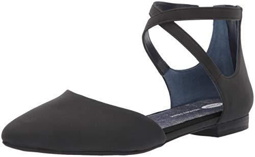 Dr. Scholl's Shoes Women's Adjustify Ballet Flat, Black Smooth, 7.5 M US