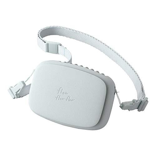 エレコム USB扇風機 充電可能 ハンズフリー ネックストラップ付 ブルー FAN-U206BU