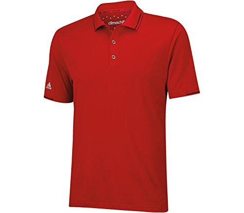 adidas Golf Climachill Solid Polo para hombre - TM3036S5, Polo de golf Climachill Solid, L, Rojo/Negro(Power Red/Black)