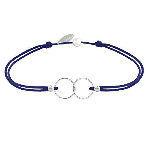 Schmuck Les Poulettes - Silber Armband Ringe Du und Ich - Classics - Blau