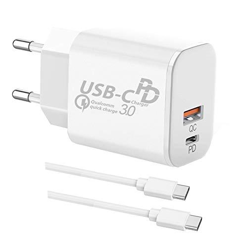 TELEFONMAX Cargador rápido USB C Dual Fast Charge Power Del