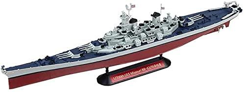 N-T Battleship 3D Puzzles Plastic Model Kits 1/350 Scale USS Missouri Battleship Model Adult Toys And Gift 15 3 X 1 5Inch
