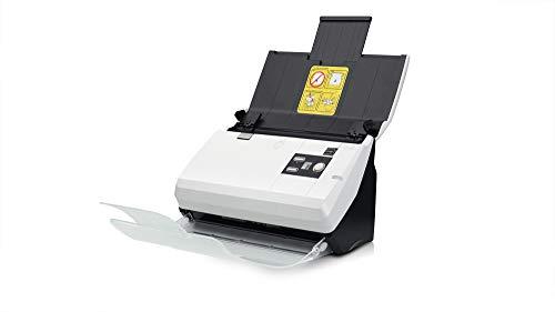 Plustek SmartOffice PN30U Duplex netzwerkfähiger Dokumentenscanner mit Ultraschall- Doppelblatterkennung (ADF, 600dpi, 30ppm) inkl. DocAction Software für Windows und Mac