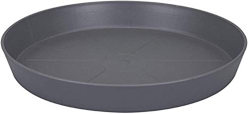 4 x Heavy Duty BLACK Small / Large Plastic Saucer Planter Plant Pot Saucers Water Tray Base (45cm)