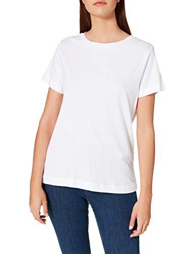 Springfield Camiseta Algodón Orgánico, Blanco, L para Mujer