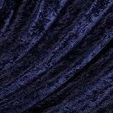 Marineblau gecrushter Samt Stoff * * * frei Post * * * navy
